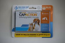 Petaction Capaction 6 tablets Kills Fleas Dogs 4-25 lbs lbs New Sealed