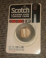 Old Stock-Sealed-SCOTCH 3M 24W-1/4-100 Leader and Timing Tape for Reel to Reel