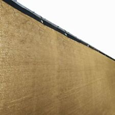 ALEKO Fence Privacy Screen With Grommets Outdoor  Windscreen 4 x 50 Ft Beige