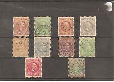 NEDERLANDSCH INDIE-WILLIAM III-1868-10 stamps-Y&T 5,7,8,9,10,11,12,13,14 & 15