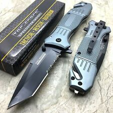 Tac Force Gray Tanto Blade Outdoor Camping Hunting Survival Pocket Knife New