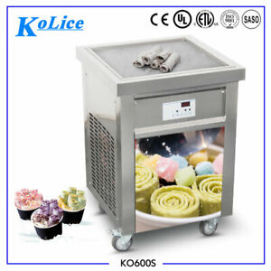 Kolice Commercial square pan fried ice ceram machine,rolled ice cream machine