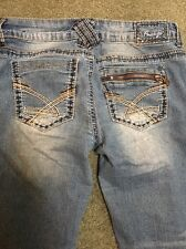 Amethyst Women's Jeans Crop/Capri Size 7 Style Mia  Distressed