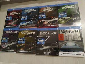 Fast And Furious (Blu-ray) 1-8 Ed. Steelbook - Nuove Sigillate