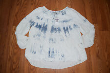 NWT Womens VINTAGE AMERICA Stratosphere Wash L/S Peasant Blouse Shirt XL