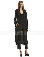 $2,200 GUCCI TRENCH COAT BLACK SILK SATIN GEORGETTE RAGLAN sz IT 42 US 6
