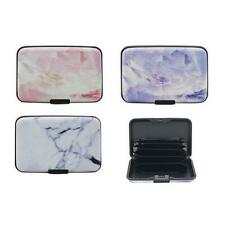 RFID Blocking Debit & Credit Card Holder - Assorted Colours Marble Effect