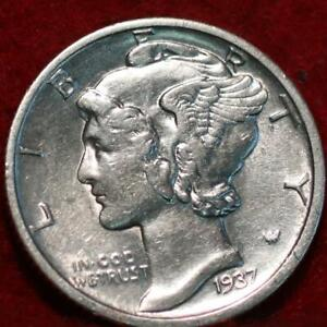 Uncirculated 1937-D Denver Mint Silver Mercury Dime