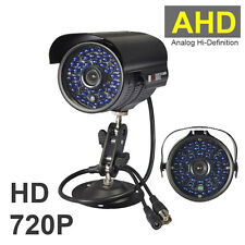 2000TVL HD 1.0MP 720P 48LED IR AHD CCTV Outdoor Camera Waterproof Security BLACK
