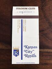 Fantastic Kansas City Royals Baseball Team Matchbook Matchbox Label From 1979