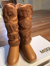 MoovCulture Moovboot Leather Boots Rabbit Fur Sheepskin Lining US8/7.5 NEW $599