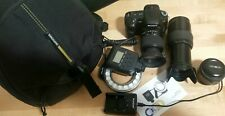 Sony Alpha a200 bundle with *2 extra lenses*, flash ring and backpack