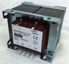 Dagnall Laminated Transformer 75VA 230V Output 15+15V