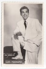 LUIS MARIANO Spanish Singer Carte Photo Editions P.I. Real Photo Postcard 388