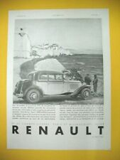 PUBLICITE DE PRESSE RENAULT AUTOMOBILE NERVASTELLA BERLINE SPORT SPACIEUSE 1931