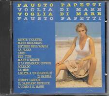 """FAUSTO PAPETTI - RARO CD FUORI CATALOGO CDOR """" VOGLIA DI MARE """""""