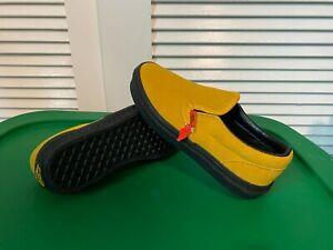 BN 🔥 VANS CLASSIC SLIP-ON Boys Kids Shoes Yellow Size 3 Black Athletic