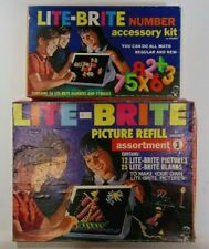 1968 LITE BRITE - NUMBER ACCESSORY KIT & PICTURE REFILL ASSORTMENT