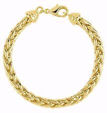 Bracelet Maille Palmier diamètre 6 mm  Plaqué or 750*/** sans nickel 19 cm