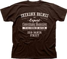 Sherlock HOLMES Detective BENEDICT CUMBERBATCH BBC Marrone T-SHIRT tc9844