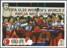 PANINI-2018 FIFA 365- #259-FIFA U20'S WOMEN'S WORLD CUP WINNERS-KOREA DPR
