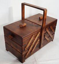 Antiker Art Deco Nähkasten Utensilienbox Ulme Nähkästchen 20er - sewing box