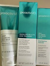 Proactiv Md Deep cleansing face wash, Adapalene gel 0.1, Daily oil control Spf30