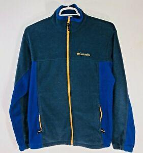 Columbia Men's Large Full Zip Fleece Jacket Multicolor Outdoor Zip Pockets