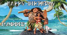 Birthday banner Personalized 6ft x 3 ft  Moana Disney