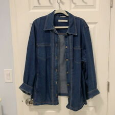 Marina Rinaldi Stretch Denim Jacket (Plus Size)