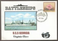 1981 US Battleships USS GEORGIA Northern Australia Delvelopment Postmark Cover