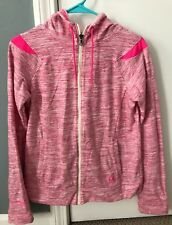 Under Armour Women's COLD GEAR Hoodie Size Small Sweatshirt Heathered Pink STORM