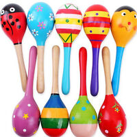 Big Size Wooden Maracas Baby Child Musical Instrument Rattle Shaker Party Toy.
