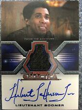 Battlestar Galactica Colonial Warriors Autograph Costume Card Jefferson Boomer