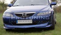 Mazda 6 GG 02-05 Front Bumper spoiler Valance addon under bumper splitter