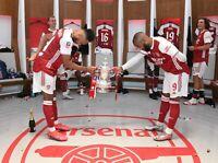 ARSENAL FA CUP WINNERS HUGE UNSIGNED 16x12 PHOTO 11 - AUBAMEYANG LACAZETTE