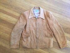 Vtg Deadstock Levi Suede Leather  Zipper Jacket Cowboy Western Wear L 42