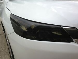 PRECUT VINYL TINT SMOKE OVERLAYS FOR 2013-15 ACCORD SEDAN 4DR HEAD LIGHT