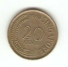 Offer>Singapore 20 cents 1968 Fish coin  high grade! ??