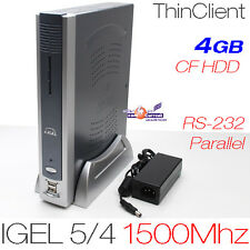 1500mhz Thin Client Igel 5/4 512mb ddr2 di RAM 4gb CF con rs-232 DVI Parallelo 12v