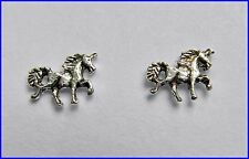 Pair Of Sterling Silver  925  Unicorn  Ear Studs  !!     Brand  New  !!