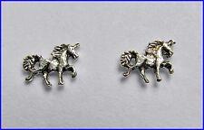 Paio Di Argento 925 Unicorno Orecchini A Perno Nuovo