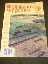 MINIATURE WARGAMES - WINDMILLS - MARCH 1991 # 94