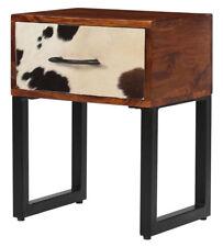 Industrial Bedside Cabinet Side End Table Vintage Retro Style Bedroom Furniture