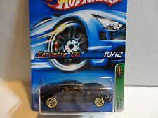 2006 Hot Wheels Treasure Hunt #48 Black Corvette C6 w/Real Riders