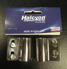 Handle / crash bar bracket for mounting badges for Vespa LML & Lambretta Halcyon