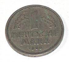 1950 DEUTSCHE 1 MARK J BUNDESREPUBLIK DEUTSCHLAND GERMANY EAGLE COIN