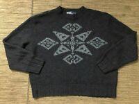 Polo Ralph Lauren Adult Mens 2XL Hand Knit Sweater Snowflake Silk Wool Cotton