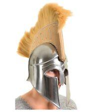 Greek Spartan Roman Medieval Ancient Warrior Armor Helmet Deluxe Dress Cosplay