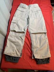 "Burton Snowboard Snow Ski Pants Adult Small Tan 26902 Waist 32"" adjustable"